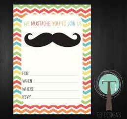 mustache bash blank invitation instant mustache chevron r