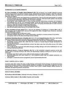 Insurance Resume Exle by Insurance Resume Exle Sle