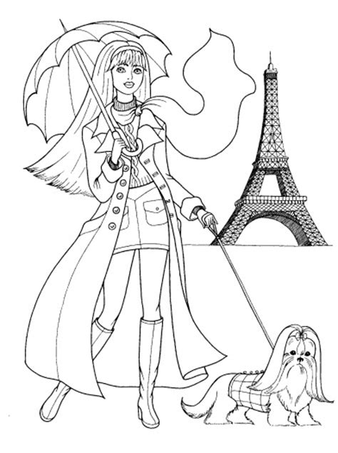 paris coloring woman in paris coloring page super