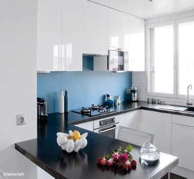 cuisine blanche et bleu cr 233 dence cuisine d 233 co bleu dans cuisine blanche