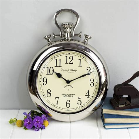 wall watch silver pocket watch wall clock by the orchard