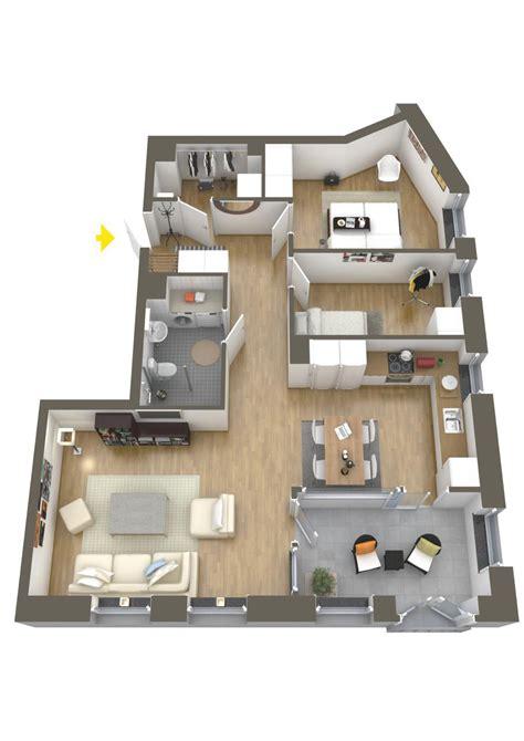 One Bedroom Design Layout by 40 More 2 Bedroom Home Floor Plans