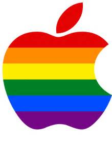 logo colors apple logo lgbt colors tim cook recently led 5 000