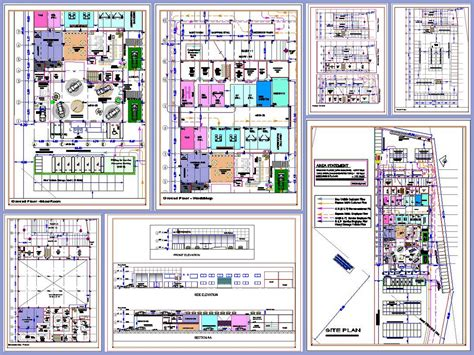 layout of workshop of automobile car showroom and workshop design plan n design