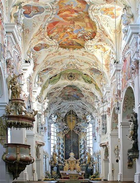 beautiful baroque architecture inside rottenbuch abbey baroque architecture inside reichenbach abbey in bavaria