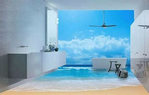 3d bathroom flooring these 3d underwater scenes on bathroom floors don t look real
