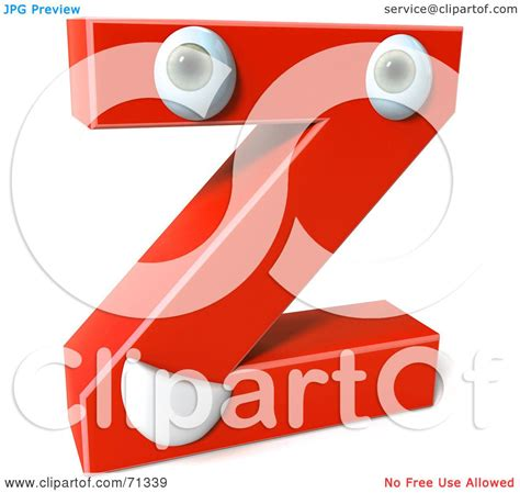 Character Letter Z Royalty Free Rf Clipart Illustration Of A 3d Character Letter Z By Julos 71339