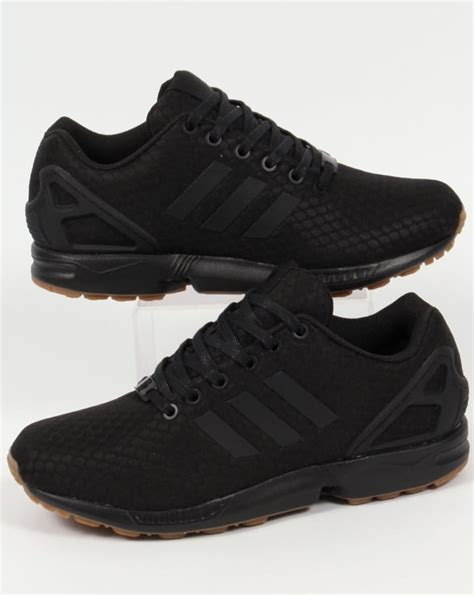 adidas zx flux trainers blackblackgumoriginalsshoes