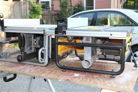 bosch vs dewalt table saw dewalt vs bosch compact table saw comparison