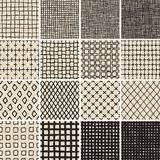 basic doodle seamless pattern set no 8 in black and white black and white doodle set stock vector image 50592650
