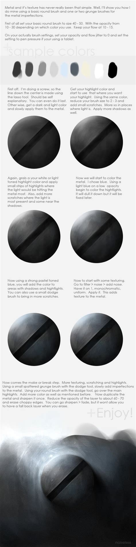 watercolor metal tutorial texturing and painting metal by noise less on deviantart