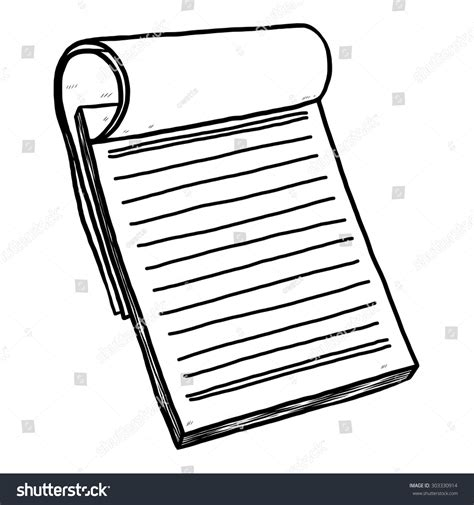 Reporters Notebook Template by Reporter Notebook Paper Vector Illustration Stock Vector 303330914