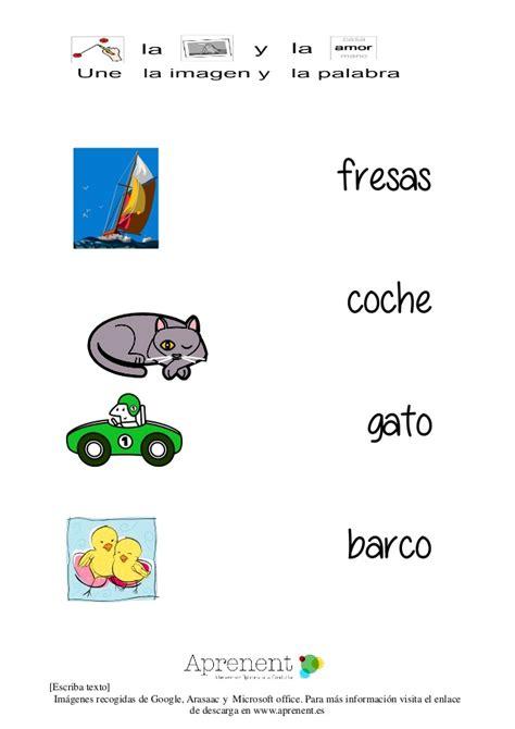 imagenes educativas cuenta y relaciona relaciona la palabra y la imagen lectoescritura