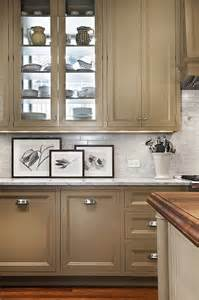 Taupe Painted Kitchen Cabinets Taupe Kitchen Cabinets Contemporary Kitchen Pratt And Lambert Tom Stringer