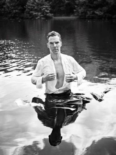 Benedict Cumberbatch posed as wet Mr Darcy and the