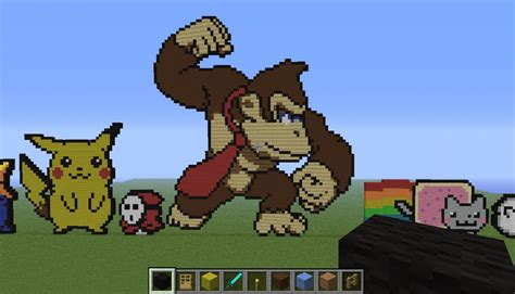 Kaos 8bit 18 pixel minecraft project