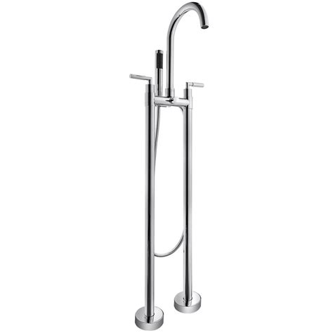 floor mount bathtub faucet akdy 2 handle freestanding floor mount roman tub faucet