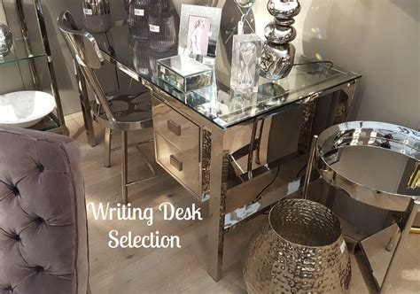 mirrored writing desk furniture home office mirrored writing desk la