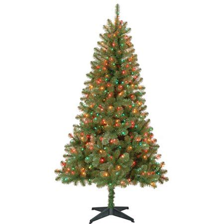 holiday time pre lit 65 madison pine white artificial christmas tree clear lights time pre lit 6 5 pine artificial tree multi color lights walmart