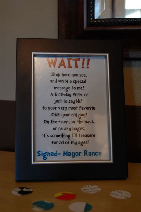 Baby Shower Guest Book Wording by For S Baby Shower We Had This Sign At A Table With