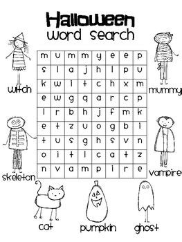 26 Spooky Halloween Word Searches | KittyBabyLove.com