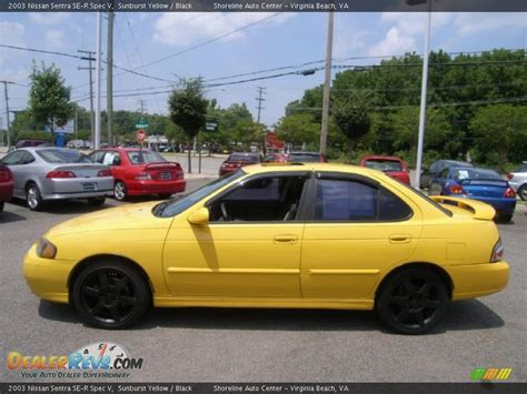 nissan sentra yellow 2003 nissan sentra se r spec v sunburst yellow black