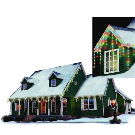 philips 125 light icicle led christmas light set at menards 174