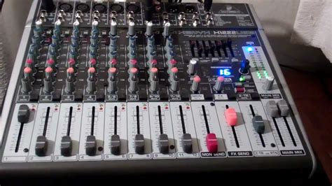 Mixer Audio Behringer 16 Chanel melhor audio mix behringer xenyx x1222usb 16