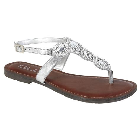 blingy sandals glo s blingy sandal silver