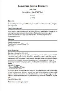 Babysitter Sample Resume babysitter resume template formsword word templates