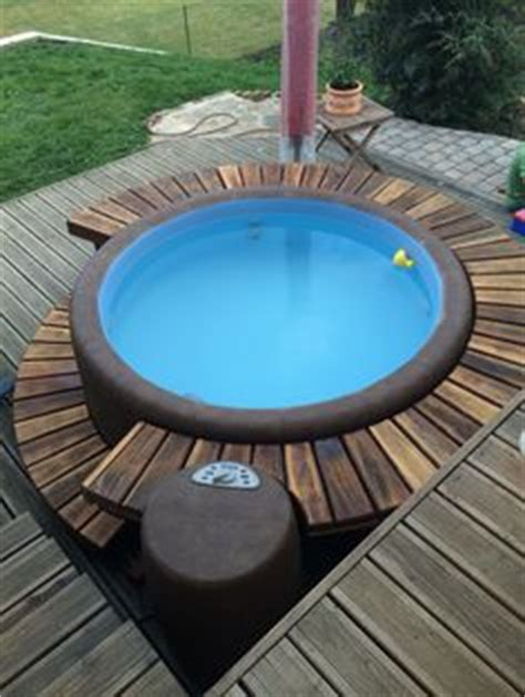 beautiful  small hot tub outdoor deck decoration