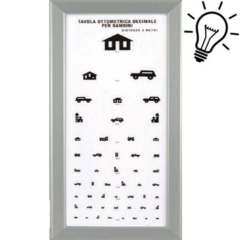 tavola optometrica per bambini ottotipo tavola optometrica per bambini ultrapiatto a
