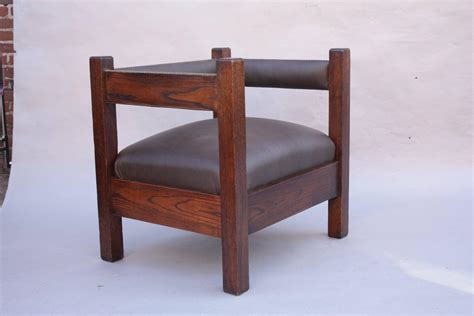 Mission Chairs For Sale by Antique Arts And Crafts Mission Cube Chair For Sale At 1stdibs