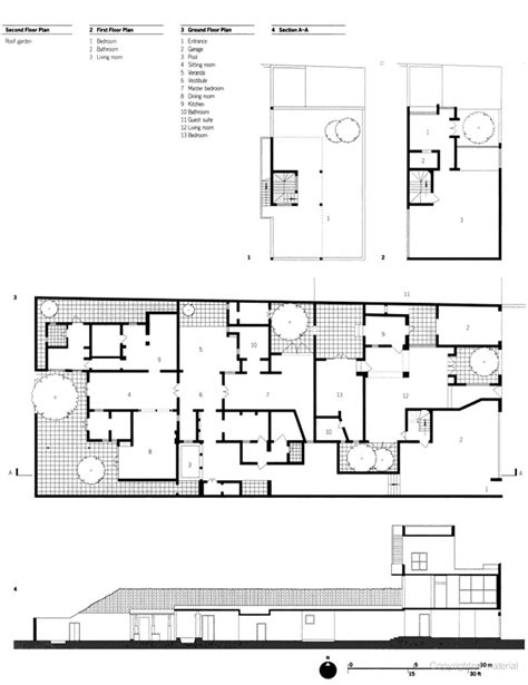 Interior Courtyard House Plans extended sequence of flowing spaces 33rd lane geoffrey