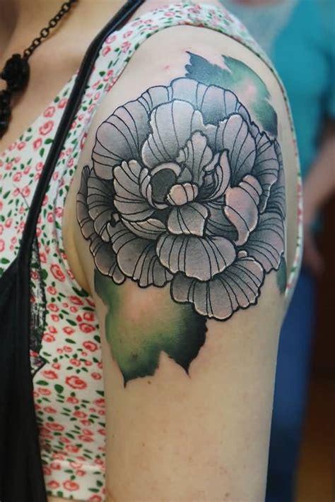 peony tattoo black and grey 37 black and grey peony tattoos