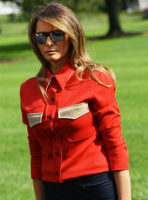 Ck Melanie melania donald s wears shirt calvin