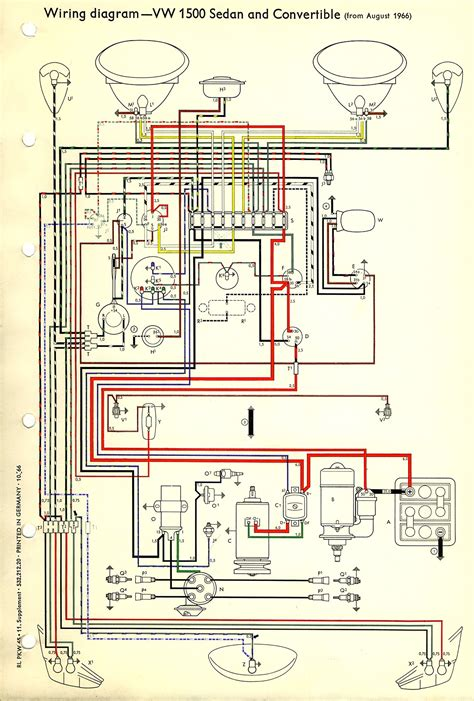 1960 vw beetle wiring diagram free image