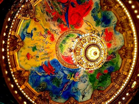 Chagall Ceiling by Paris Opera House Chandelier Garnier Ceiling Chegall