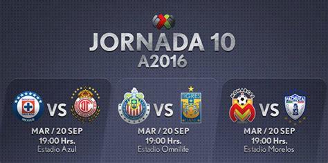 Calendario Liga Mx Jornada 10 2016 Liga Mx Fechas Y Horarios De La Jornada 10 Apertura