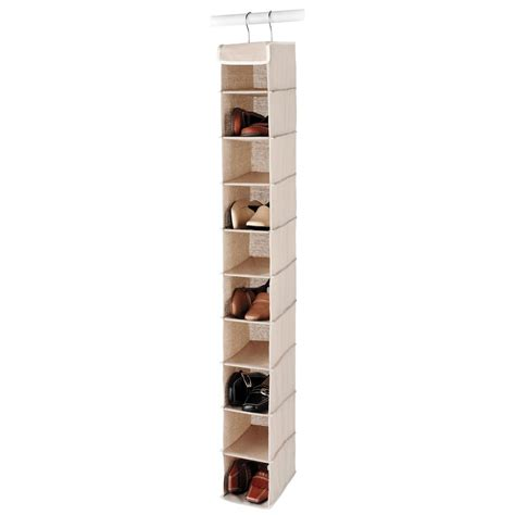 hanging shoe rack morestorage com linen hanging shoe organizer 6082 2664