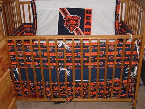 new custom 6pc nfl chicago bears baby nursery crib set bears