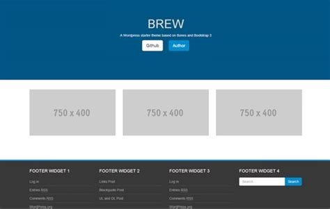 bootstrap layout footer special times 18 free wordpress themes from november 2013