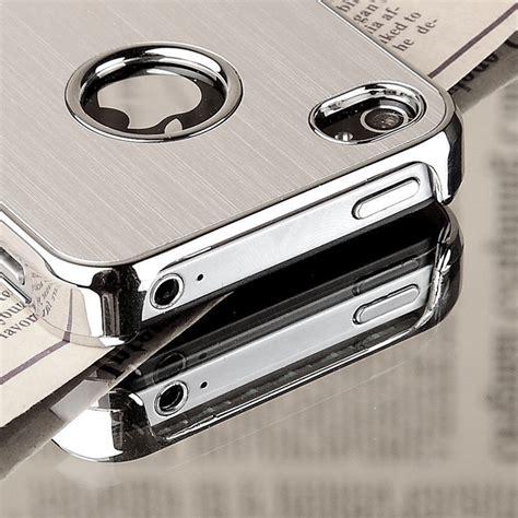 Special Item Iphone 4 4s Design Aluminium Brused luxury brushed aluminum chrome cover for iphone