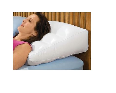inflatable 3 pc body wedge foam pillow acid reflux back inflatable bed wedge pillow with cover 2031 ebay