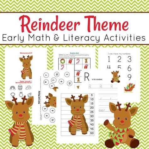printable reindeer math games preschool reindeer printable math and literacy activities