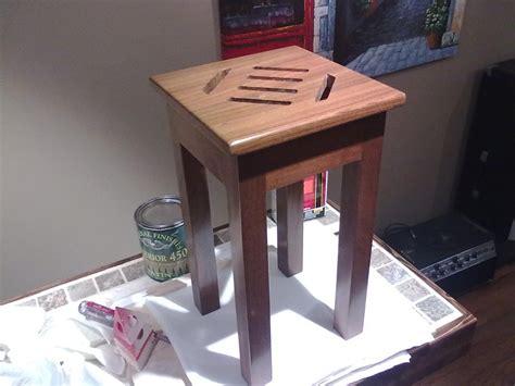 ipe shower bench ipe shower stool by gbva lumberjocks com woodworking