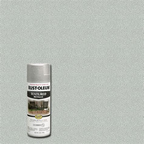 spray paint with texture rust oleum stops rust 12 oz protective enamel silver