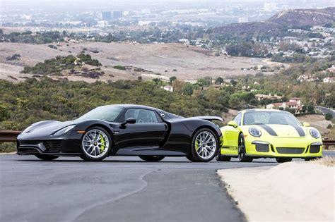 porsche spyder 911 deux porsche 918 spyder et 911 r assorties 224 vendre