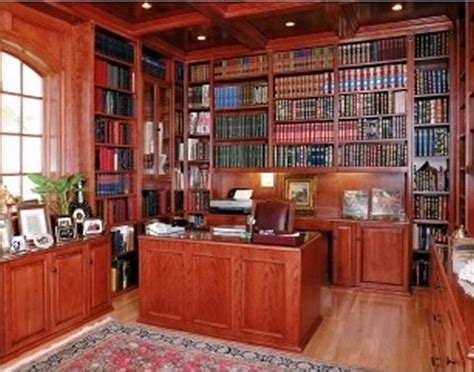 custom home library interior design library office