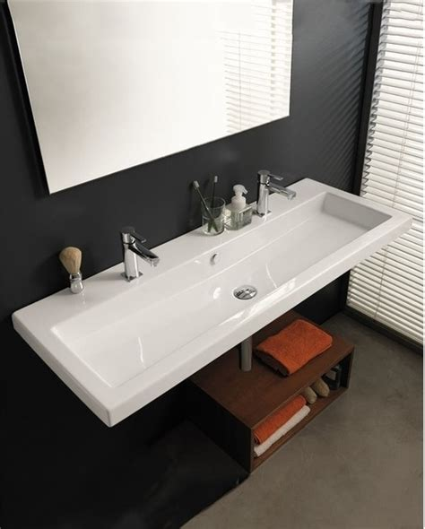 double wide bathroom sink large square sink by tecla modern bathroom sinks
